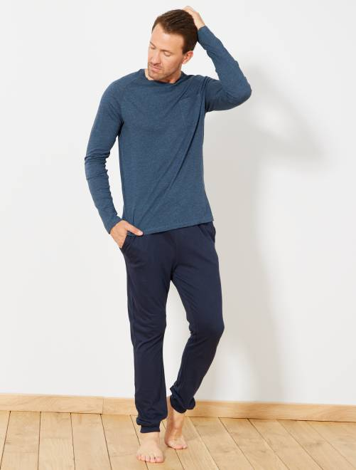 Pijama largo                             azul pato/azul petróleo Hombre