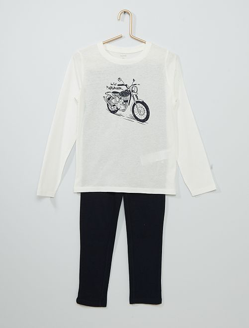 Pijama largo                                                                 azul/BLANCO