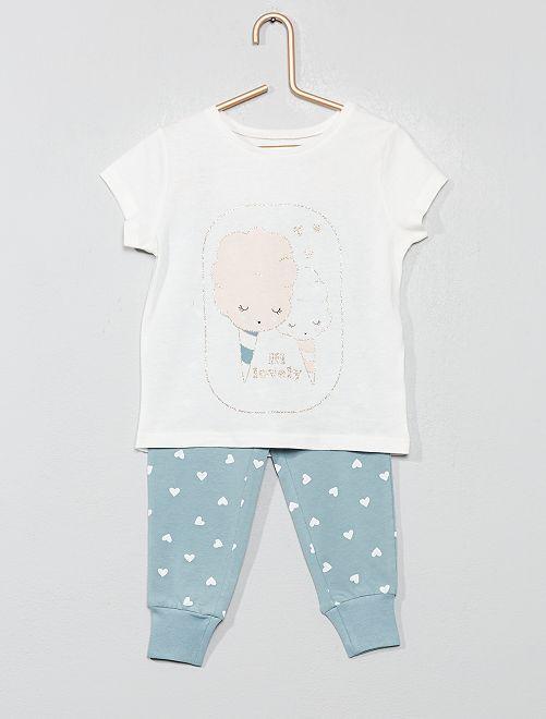 Pijama largo con brillos                                         GRIS