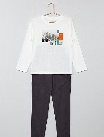 b2db6d0997 Niño 3-12 años - Pijama largo con estampado - Kiabi
