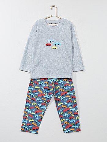 Pijama largo con estampado de 'coche' - Kiabi