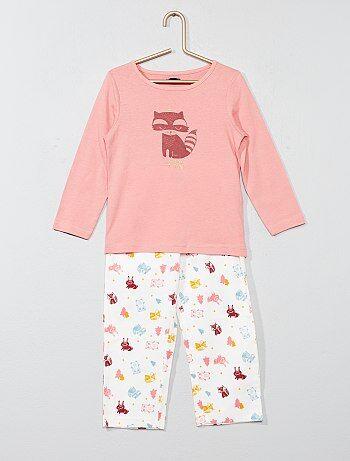 Pijama largo con estampado de zorro - Kiabi