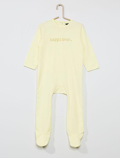 Pijama largo con mensaje                                                                                         AMARILLO