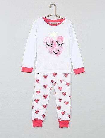 9f51e09bb5 Pijama largo  corazón  - Kiabi