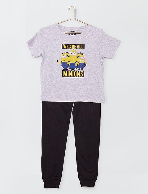 Pijama largo de 2 piezas 'Minions'                             GRIS