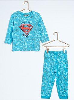 Pijamas, batas - Pijama largo de 2 piezas 'Superbaby'