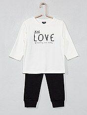 Pijama largo de algodón orgánico