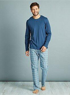 Pijamas, batas - Pijama largo de algodón puro - Kiabi