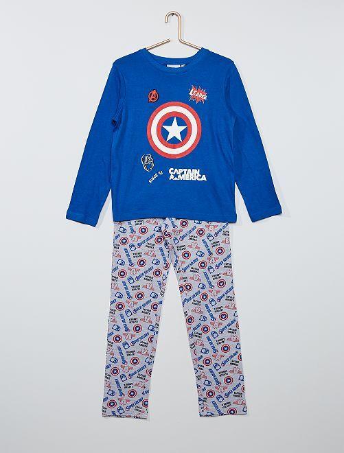 Pijama largo de 'Capitán América'                                         AZUL