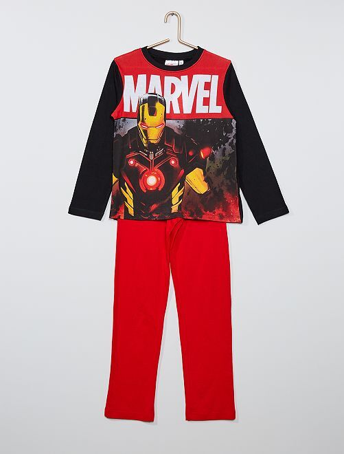 Pijama largo de 'Capitán América'                                         negro/rojo