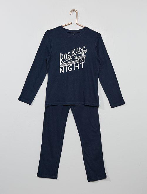 Pijama largo de fantasía                                                                                         AZUL