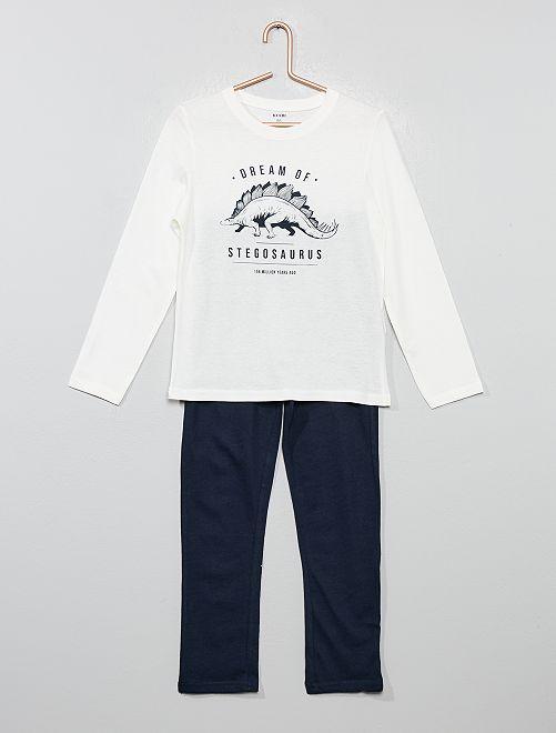 Pijama largo de fantasía                                                                                         BLANCO
