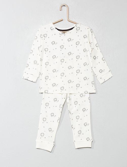 Pijama largo de 'león'                                         BLANCO Bebé niño
