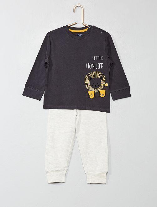 Pijama largo de 'león'                                         NEGRO Bebé niño