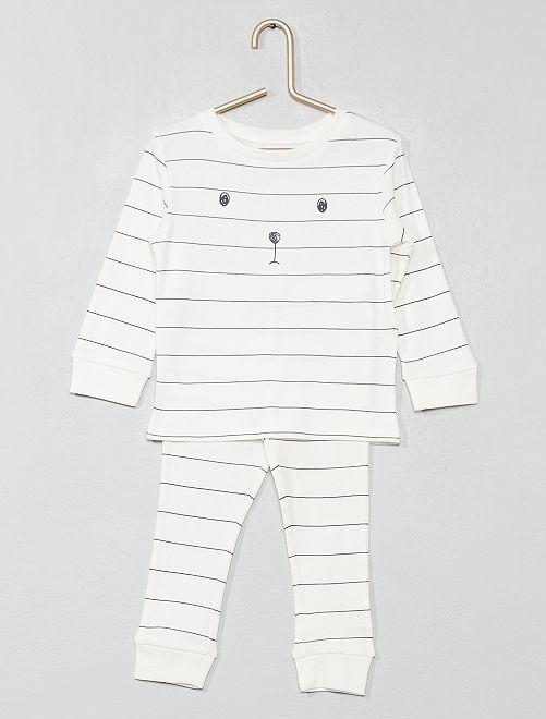 Pijama largo de 'oso'                             BLANCO Bebé niño