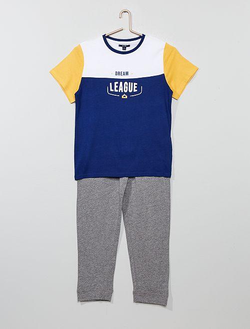 Pijama largo de punto                                         AMARILLO Joven niño