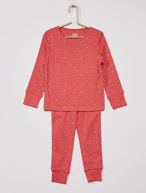 Pijama largo de punto 'eco-concepción'                                                                 ROSA