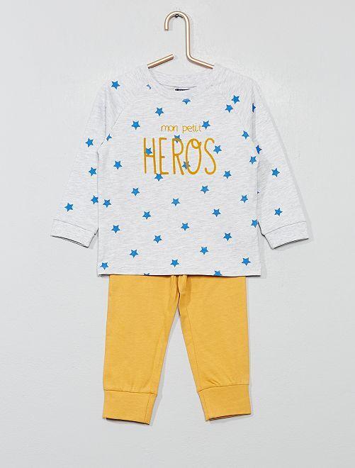 769d74c5928a Pijama largo de punto Bebé niño - BLANCO - Kiabi - 10,00€