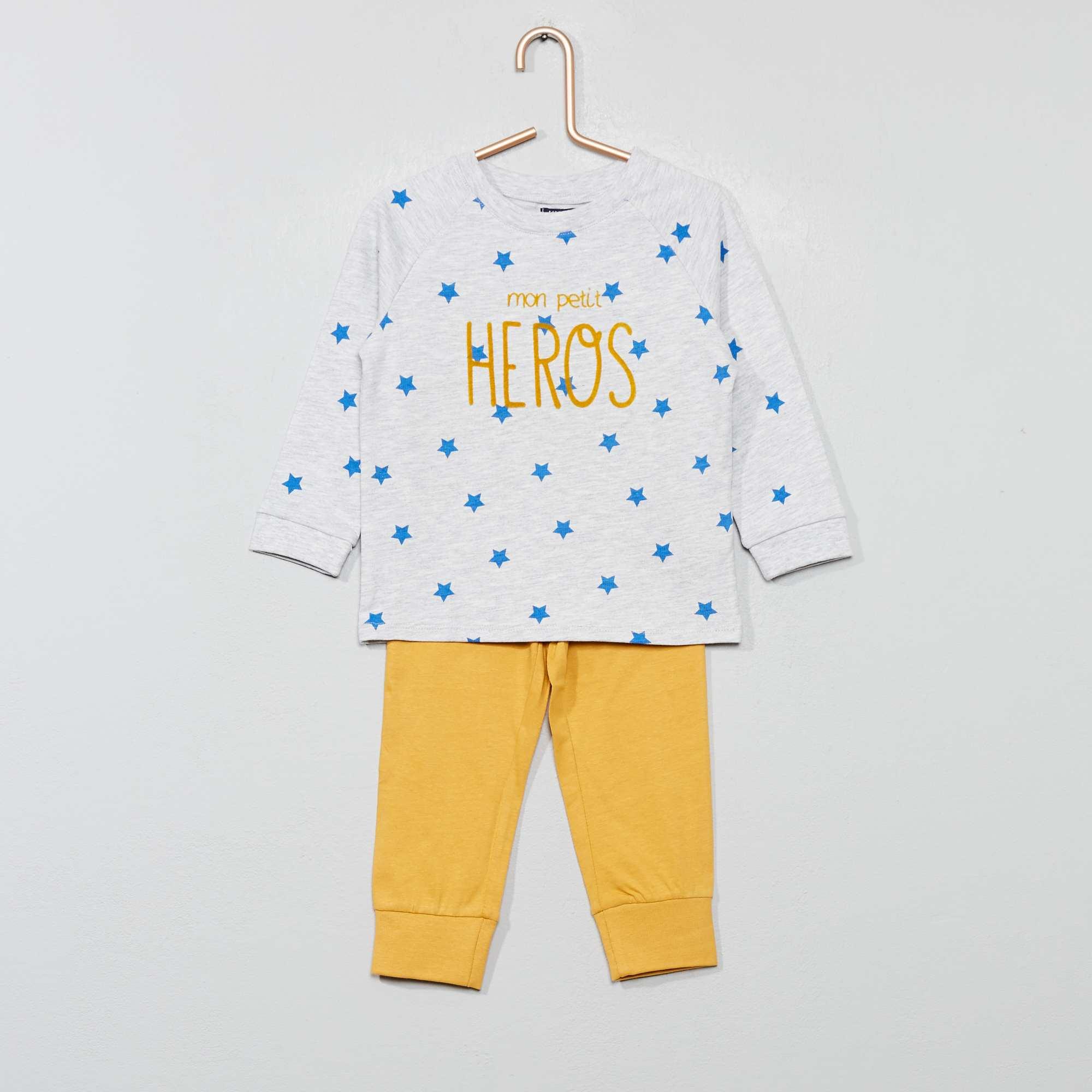 ccbf8ae6f77f Pijama largo de punto Bebé niño - GRIS - Kiabi - 10,00€