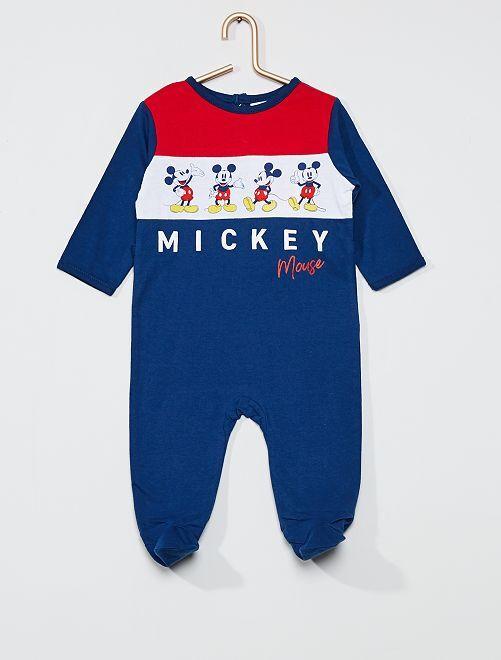 Pijama largo de punto 'Mickey Mouse' de 'Disney'                                         AZUL