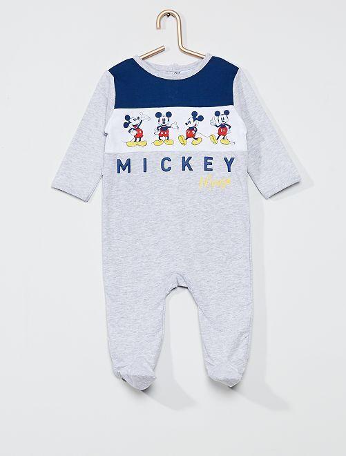 Pijama largo de punto 'Mickey Mouse' de 'Disney'                                         gris chiné