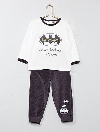 Pijama largo de terciopelo 'Batman' - Kiabi