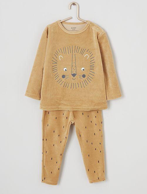 Pijama largo de terciopelo                                                                                         león