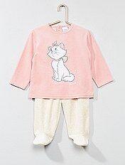 Pijama largo de terciopelo 'Marie'