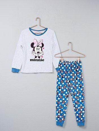 Pijama largo de terciopelo 'Minnie' - Kiabi