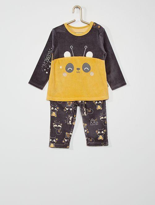 Pijama largo de terciopelo                             NARANJA