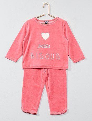 Pijama largo de terciopelo - Kiabi