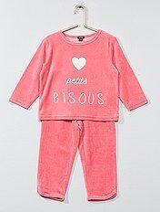 Pijama largo de terciopelo