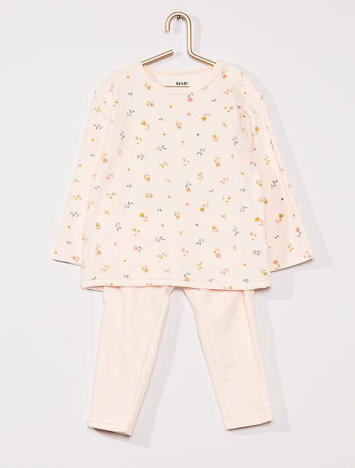 Pijama largo de terciopelo                                 ROSA