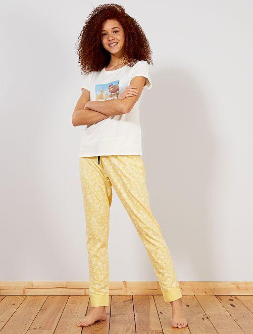 Pijama largo 'Disney'                                                                             AMARILLO
