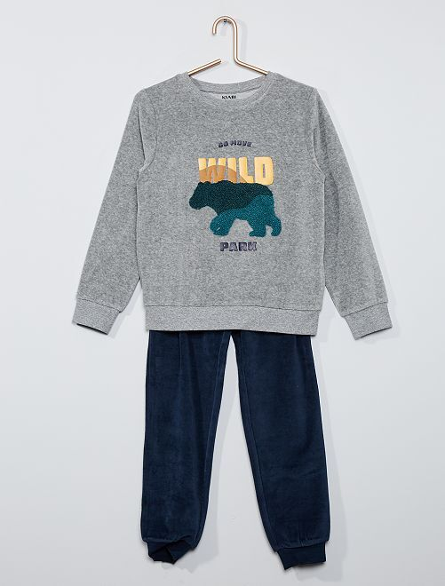 Pijama largo 'eco-concepción'                                                     AZUL