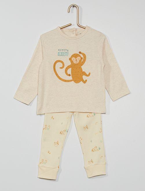 Pijama largo eco-concepción                             BEIGE