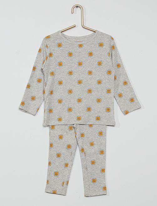 Pijama largo eco-concepción                                                     GRIS