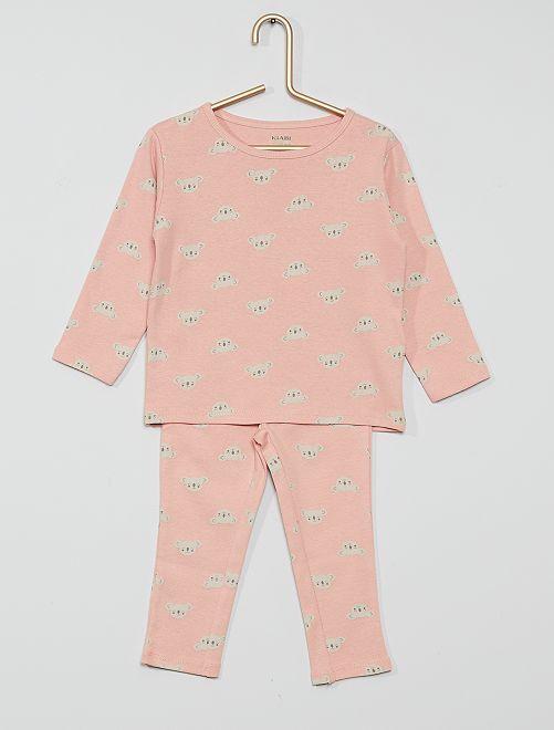 Pijama largo eco-concepción                                                     ROSA