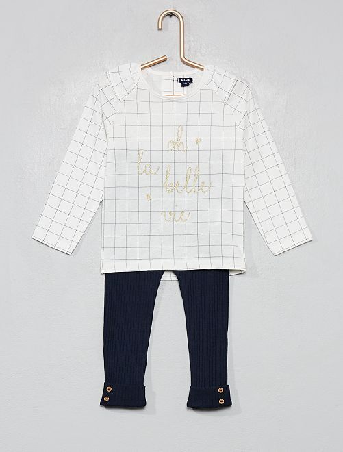 Pijama largo estampado                     BLANCO