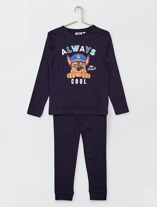 Pijama largo estampado 'Chase' de 'La Patrulla Canina'                             azul