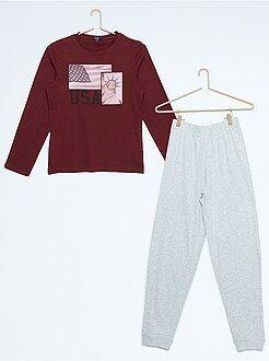 Niño 10-18 años Pijama largo estampado de Nueva York