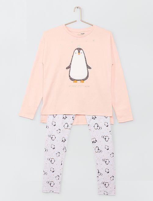 Pijama largo estampado                                                     GRIS