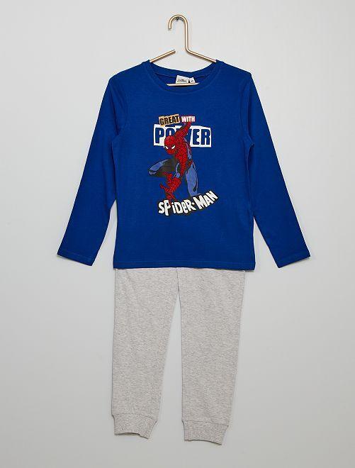 Pijama largo estampado 'Spiderman'                             AZUL