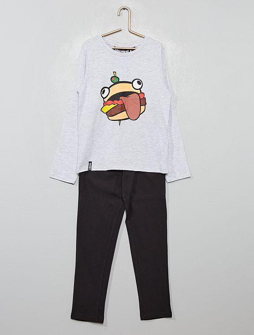 Pijama largo 'Fortnite'                             GRIS
