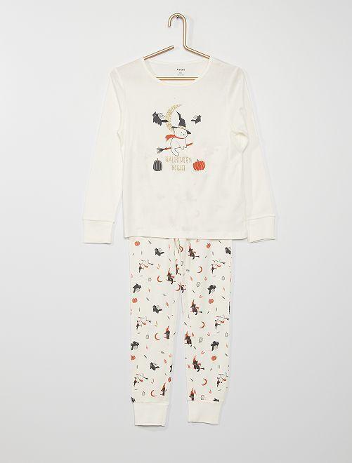 Pijama largo 'Halloween'                             BLANCO