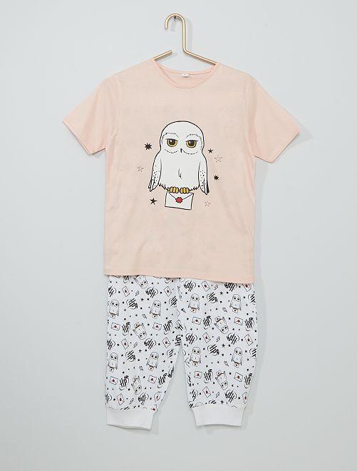 Pijama largo 'Harry Potter'                             rosa/blanco