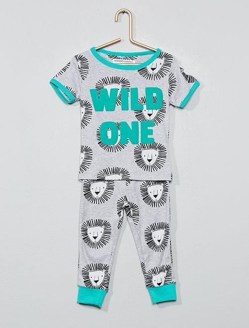 Pijama largo 'león'                             VERDE
