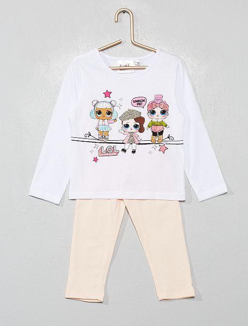 Pijama largo 'L.O.L Surprise'                             blanco