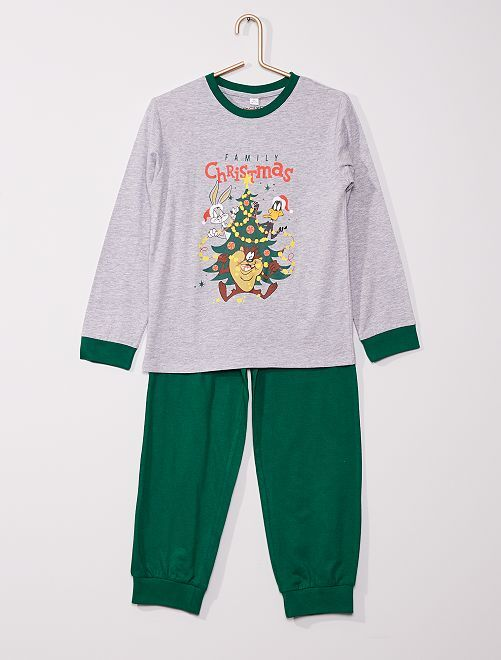 Pijama largo 'Looney Tunes'                             gris/verde