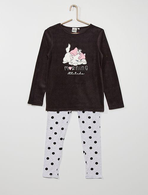 Pijama largo 'Marie'                             NEGRO